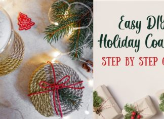 DIY Holiday Coaster