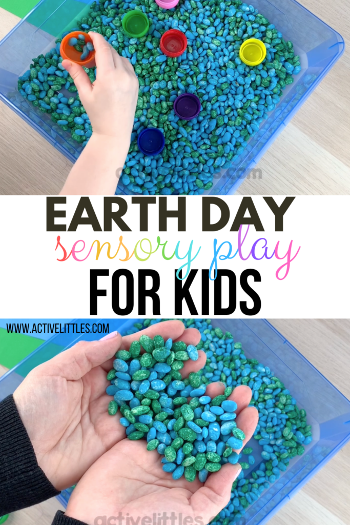 15 Fun Earth Day Crafts & Activities- sensory tray