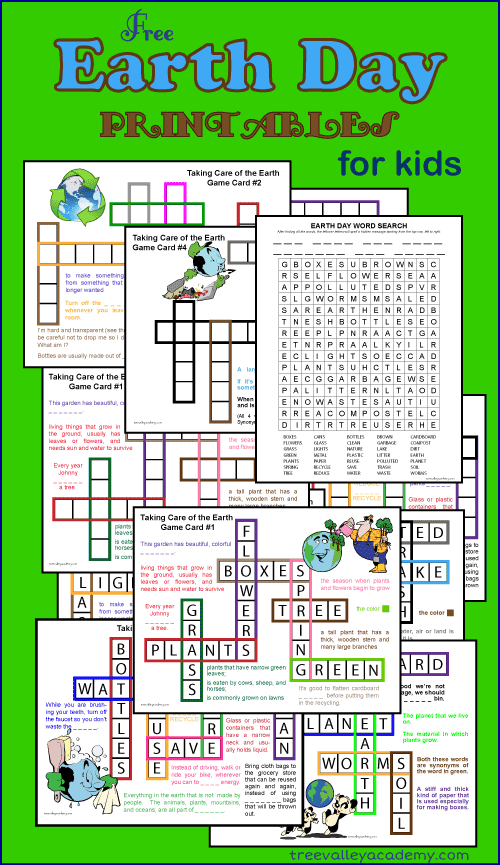 15 Fun Earth Day Crafts & Activities- word printables