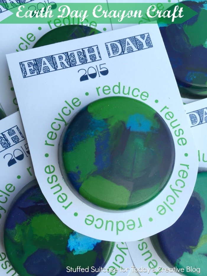 Earth day crayon craft