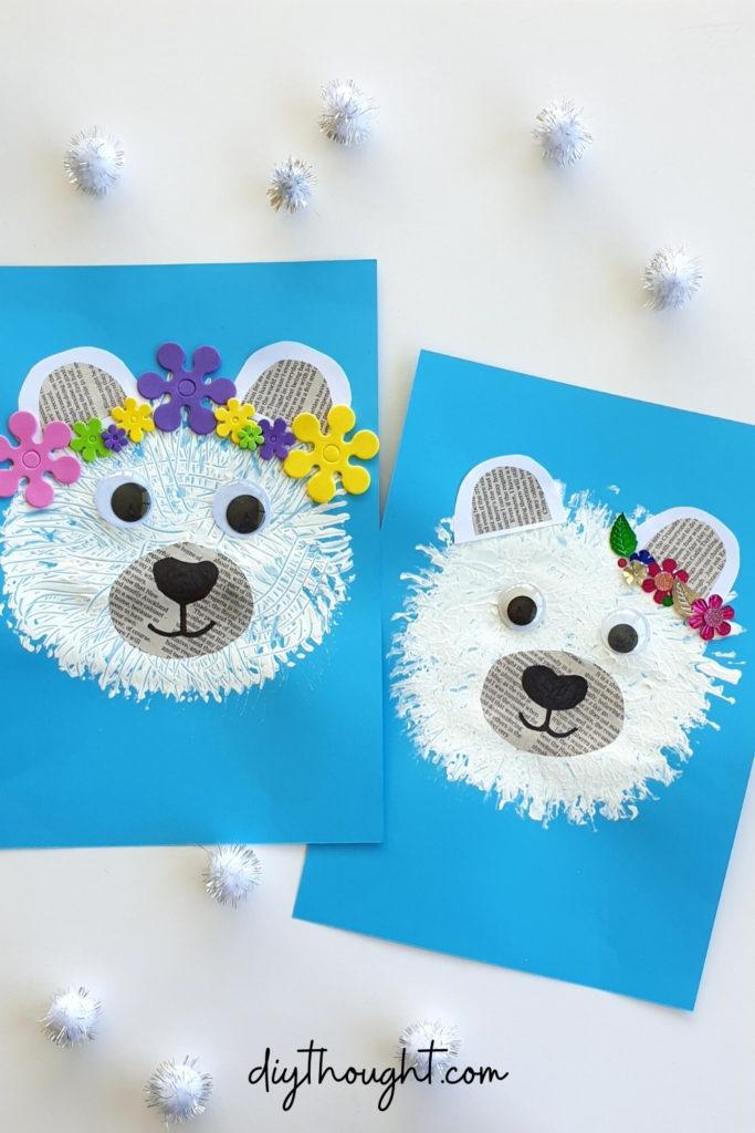 Painted Polar Bear Craft
