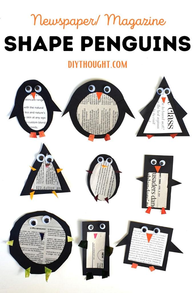 Newspaper/ Magazine Shape Penguins