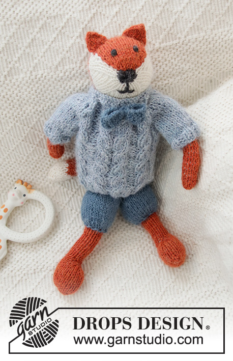 7 Adorable Free Toy Knitting Patterns- fox
