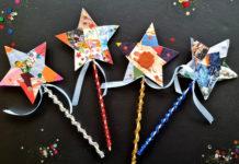 cardboard star wand craft