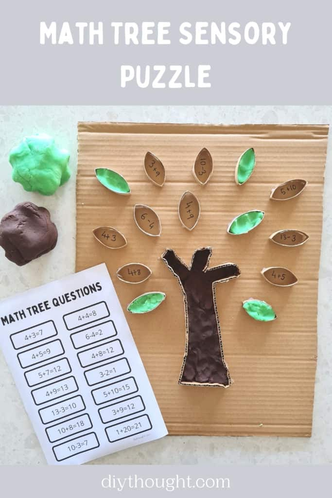 Math Tree Sensory Puzzle