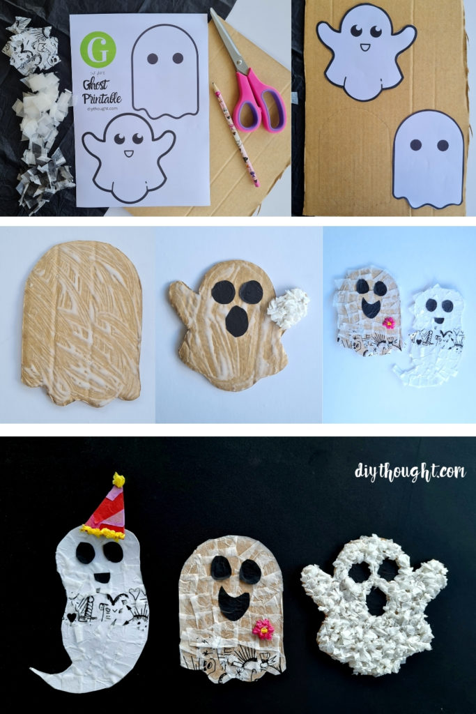 how to make- Recycled Tissue Paper Ghosts