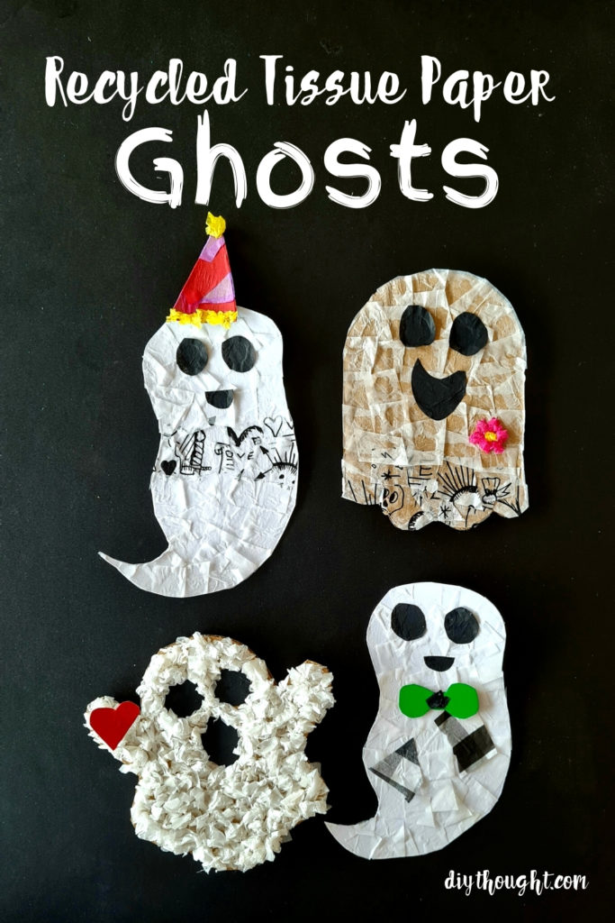 Recycled Tissue Paper Ghosts